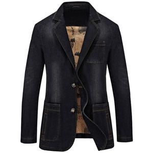 Tang cool4XL denim casual giacca sportiva degli uomini Cotone Moda Vintage Giacca Male Blue Coat Giacca di jeans Big Blazers 2019 New Fashion