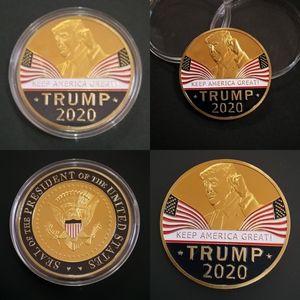 Металлическая памятная монета TRUMP 2020 KEEP AMERICA GREAT Coins двухсторонний национальный флаг сувенир чеканка горячие продажи 3 5fy L1
