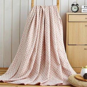Elegante simplicidade Cama Praça Checkered toalha verão esfria Quilt Multifuncional Siesta Capa Cobertor macio e confortável