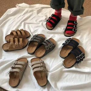 Crianças Cork Sandles Chinelos verão fresco Sólidos sandálias de praia antiderrapante Chinelos meninas Casual Chinelos Sandálias Calçados Crianças Calçados BYP675