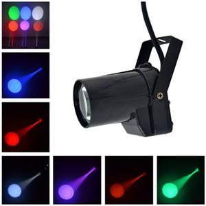 AUCD Mini Portable 5W RGBWYP Monocolore LED Fascio da discoteca Palla Proiettore Proiettori Lampada da paesaggio DJ Party Show Stage Lighting LE-M01