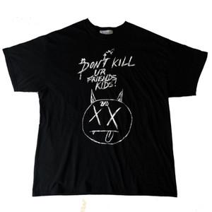 Para hombre verano diseñador T Shirts La venganza BAD Manuscrito Doodle XXXTENTACION marca de moda de algodón de manga larga Casual