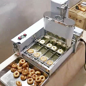 2000W коммерческие производители пончика небольшие 4 ряда мини-пончики электрических жарки мини пончика автоматического производство пончики делая машину