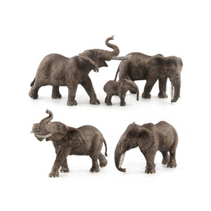 GEEK KRAL Hayvan Dünya Zoo hayvan model oyuncaklar Şekil Eylem Oyuncak Simülasyon Hayvan Çocuklar Için Güzel Plastik fil Oyuncak