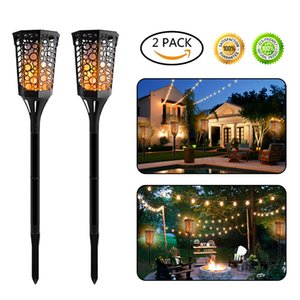 Solar Energy Flame Fire Light 96 LED Außenleuchte Courtyard Lawn Wandleuchte Solar Energy Street Path Lights