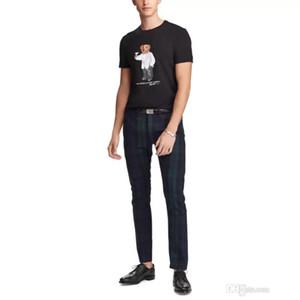 Ayı Yaz Tişörtlü ABD boyutu Polo Bear Gömlek Erkekler Tişört ABD Yaz Kısa Kollu Standart AB İngiltere Büyüklüğü Tişörtler Üst Kalite Hip Hop