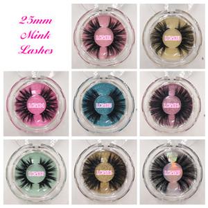 5D 25mm المنك الرموش طويلة مثيرة المنك الحقيقي الشعر رموش تسمية خاصة مربع التعبئة والتغليف المخصصة