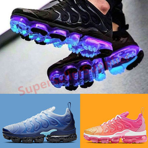 Nike air VaporMax TN Plus Running shoes più pattini correnti donne uomini Triple Nero Rosa Bianco salita mens REGENCY VIOLA limone Volt formatori Sneakers Sport 36-47
