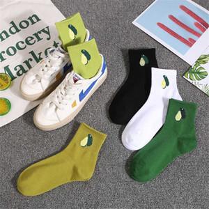 Ins минималистского стиля авокадо носков дама фрукты женских носки хлопок зеленый Смазливого спортивных носков Бесплатной доставки