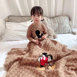 New Baby Primavera Outono macacãozinho Infante recém-nascido da menina do menino de malha com nervuras Jumpsuit roupa do bebê Quente Outfit e cobertor