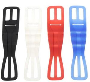 Alta flexível de silicone Strap macia Móvel Bicicleta Phone Holder Universal suporte para bicicleta Lanterna Silica Gel Straps Branco Azul