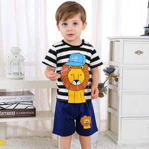 Newborn clothing sets summer baby clothes for boys & girls cotton Lion print baby sets 0-2Y baby child clothes 2PCS.#dxh