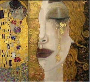 Larmes de Freya Classic Fine Art Gustav Klimt ÉNORME Peinture à l'huile sur toile peinte à la main Décoration d'intérieur HD Imprimer Wall Art Canvas Photos 191029