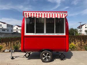 식품 트럭 음식 예고편 모바일 주방 230x200x230cm의 RED