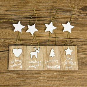 Christmas Decoration Wooden Christmas Letter Doodle Small Wooden Sign Pendant Creative Christmas Tree Tag