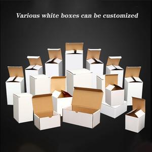 blanc Boîtes en carton blanc Coffrets cadeaux Kraft Boîtes de carton pour 20 oz 30 oz recourbée verre tumbler maigre verre régulier gobelet personnalisé