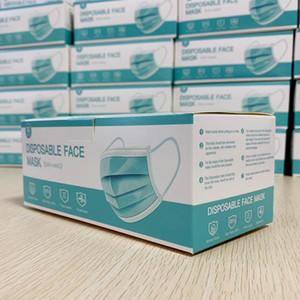 Einweg-Gesichtsmasken Anti-Dust-Mund-Masken PM2.5 3 Schichten Schmelzblown Nicht gewebt Niveau Mundmaske DHL Freies Verschiffen