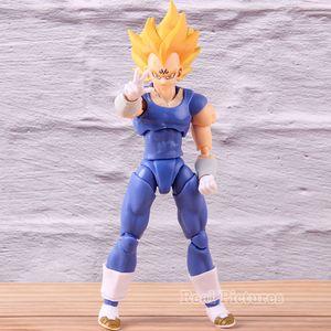SHF S.H. Azione Figuarts Anime Dragon Ball Z Super Saiyan Majin Vegeta PVC Figure Collection Model Toy T200321