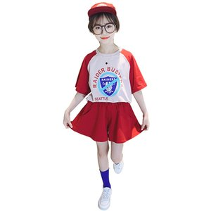 Girls' suit summer clothes children's sports two-piece suit 2020 new middle and large children's summer loose short sleeves