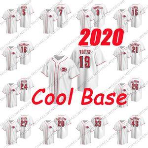 2020 26 Рейзел Иглесиас 27 Тревор Бауэр 28 Энтони Десклафани 33 Джесси Уинкер 43 Скотт Шеблер 54 Сонни Серый бейсбола трикотажных изделий