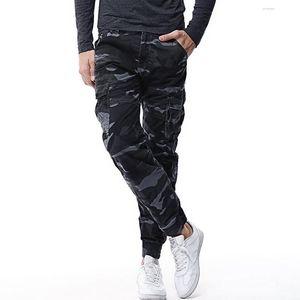 Mens Nueva Tactical Pantalones Pantalones Cargo Blend casuales de combate del Ejército de algodón Pantalones Hombre Slim Fit algodón