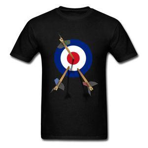 Поп Мужчины Топы Тис MOD Target Tshirt 3D тенниска День рождения футболки хлопок Ткань с коротким рукавом Одежда Дарт игры мультфильм печати