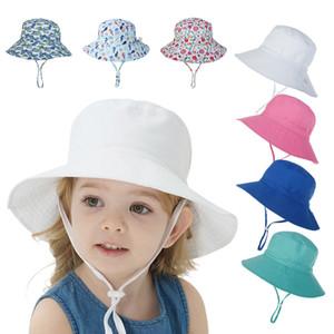 Berretti per bambini 2020 primavera e l'estate del cappello di Sun uomini e le donne bambino traspirante e ad asciugatura rapida cappello della spiaggia pescatore Cappello XD23550
