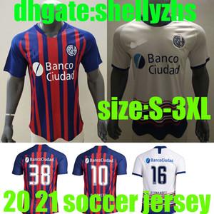 S-3xl 2020 San Lorenzo jersey di calcio 20 21 San Lorenzo Casa # 16 BELLUSCH Camicia di calcio blandi CERUTTI su misura degli uomini di calcio uniforme camicette