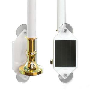 태양 전원 LED 촛불 벽 램프 방수 태양 패션 톡 촛불 홈 야외 정원 창 장식