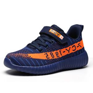 Çocuk ayakkabıları 2019 Yeni Uçan Dokuma Örgü Nefes Yeeyz Erkek Ve Kız Ayakkabı Çocuk Sneakers Erkek Loafer Ayakkabı Y190525