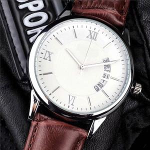 Alle Zifferblätter Stoppuhren-Fabrik-Mann-Uhr Luxus-Uhren mit Kalender Lederband Hochwertiger Quarz-Armbanduhr für Herren bestes Geschenk Arbeits