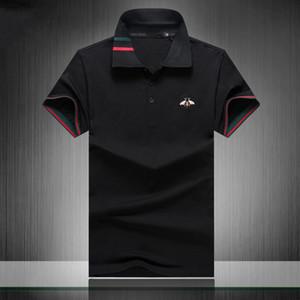 2020 designer stripe polo shirt t shirts snake polos bee floral mens High street fashion horse polo luxury T-shirt