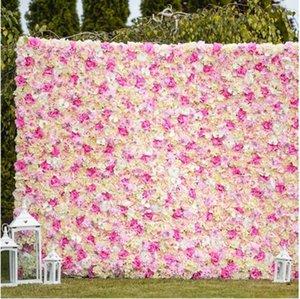 240x240cm İpek Gül Çiçek Champagne Düğün Dekorasyon Çiçek Duvar Romantik Düğün Backdrop Dekore Yapay çiçek pembe