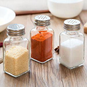 Cuisine Gadget Bouteille en verre Spice Box Assaisonnement poivre Bouteille de cuisine Spice stockage Bouteille Jars sel poivre Cumin boîte de poudre DBC VT1033