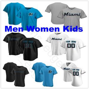2020 Новые пользовательские мужчины женщины дети Льюис Бринсон Мартин Прадо Хосе Урена Брайан Андерсон Мигель Рохас Сэнди Алькантара сшитые бейсбольные майки