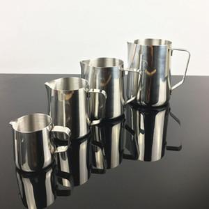 Taza de flor de acero inoxidable para la jarra de espuma Máquina de café 150 ml 350 ml 600 ml 1000 ml Capuchino Herramientas de cocina Leche Frothers Latte Art