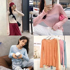 MISHOW 2020 Summer Casual T-Shirts Women New Fashion Female Basic Solid Tops Long Sleeve O Neck Wool Knitted Clothing MX20A3484 T200613