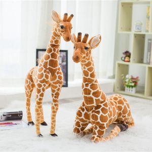 Énorme Real Life girafe en peluche Jouets Poupées mignon des animaux en peluche douce Simulation girafe Poupée de haute qualité cadeau d'anniversaire pour enfants Toy 50cm