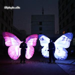 Scène de théâtre Décor Éclairage marche gonflable d'aile de papillon Costume de Colorful adulte Coup Wearable Complets Up Butterfly Parade Voir