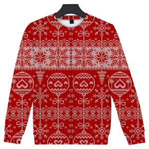 Christmas Day Mens Designer Sweatshirts Fashion Loose Christmas Print Pullover Long Sleeve Mens Sweatshirts Casual Males Clothing