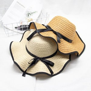 2020 New Summer Hat Sun Women Beach Hat Large Brim Fashion Floppy Foldable Sun Hats Breathable Ladies Summer Straw Hat