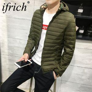 IFRICH куртки куртка мужчины высокое качество зима теплая верхняя одежда тонкий Мужские пальто повседневная ветровка куртки мужчины пальто зимнее пальто XXXL