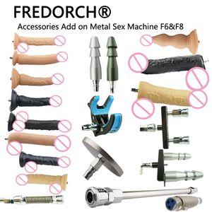FREDORCH 23 tipos Sem Ruído Premium Sex Machine F6 Attachment VAC-U-LOCK Dildo Suction Cup Sex Love Machine For Women Y200410