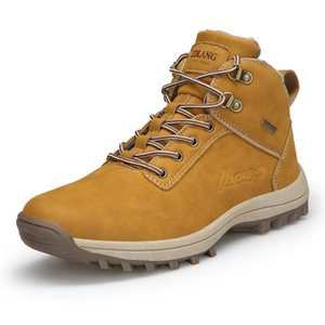 TaoBo New Fur Brown Hiking Shoes Winter Low Cut Men Women Size 47 Snow Boots Special Force Tactical Desert Combat Men's Boots