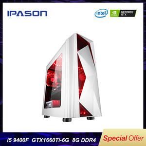 Gaming Desktop PC IPASON P23 6-core 9th Gen i5 9400F Dedicated Card GTX1660TI 6G 8G DDR4 RAM 1T+120G SSD Win 10 Gaming PC