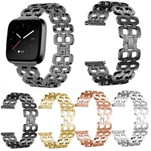 Luxo metal watchstrap Para Versa Lite Watch Band cintas de aço inoxidável Watchband 2019 Bandas de substituição Chegada Nova