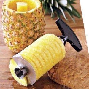 Multi-función de Acero Inoxidable Piña Peeler Cortador Cortadora Corer Peel Core Herramientas Fruta Vegetal Cuchillo Gadget Cocina Espiralizador DH0115