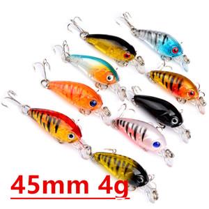 9 цвет 45 мм 4g кривошипные рыболовные крючки 10# крючок 3D глаза жесткие приманки приманки Pesca рыболовные снасти аксессуары LW-11