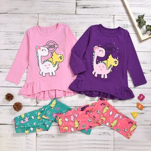 3 Designs Newborn Baby Girls Clothes Sets Spring Cute Cartoon Long Sleeve Top Pants 2pcs Outfits Clothing Set