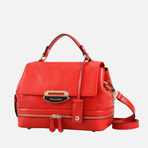 OLOEY European and American women's shoulder bag High capacity handbag Genuine Leather Lady bags Crossbody bag 6133A15601C00
